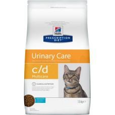 Hill's Prescription Diet  URINARY CARE C/D MULTICARE при урологическом синдроме с океанической рыбой, 1.5 кг (C18805)