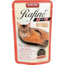 Animonda RAFINE Adult Паучи для кошек с курицей, уткой и пастой 100 гр. (83652)