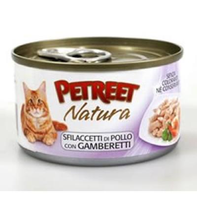 Петрит консервы для кошек Куриная грудка с креветками 70гр. (53516)