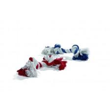 """Beeztees Игрушка для собак """"Канат с 2-мя узлами"""" красно/белый, бело/голубой"""