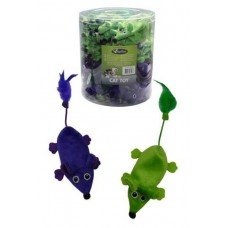 """Papillon Игрушка для кошек """"Плюшевые мышки, зеленые и фиолетовые"""" 11см (Plush green + violet mouse 11 cm) 240057 / P24280"""