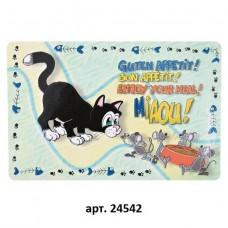 """Trixie Коврик под миску """"Кошка"""", 44х28 см (P24223)"""