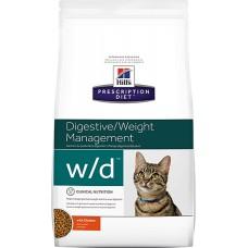 Hill's Prescription Diet DIGESTIVE / WEIGHT MANAGEMENT W/D  для борьбы с лишним весом и поддержки правильной работы ЖКТ