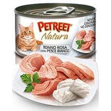 Петрит консервы для кошек Кусочки розового тунца с рыбой дорада 70гр. (53067)