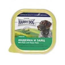 Happy Dog Паштет для собак с индейкой и зайцем, 300гр. (10603)