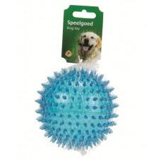"""Beeztees Игрушка для собак """"Мяч игольчатый"""" голубой, TPR, 8см. (620924)"""