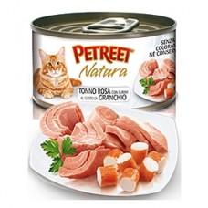 Петрит консервы для кошек Кусочки розового тунца с крабом сурими 70гр. (53070)
