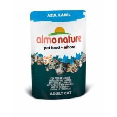 Almo Nature Azul Label пауч для кошек с Курицей и Сардинами 70гр. (23364)