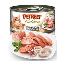 Петрит консервы для кошек Кусочки розового тунца с кальмарами 70гр. (53072)