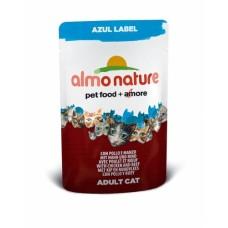 Almo Nature Azul Label пауч для кошек с Курицей и Говядиной 70гр. (23357)