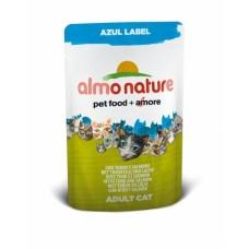 Almo Nature Azul Label пауч для кошек с Тунцом и Лососем 70гр. (23388)