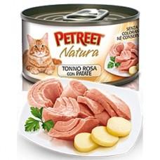 Петрит консервы для кошек Кусочки розового тунца с картофелем 70гр. (53066)