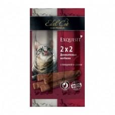 Edel Cat Жевательные Kолбаски с Говядиной и Салями, 4шт.*2гр. (59992)