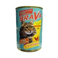Брава консервы для кошек Курица 400гр. (17741)