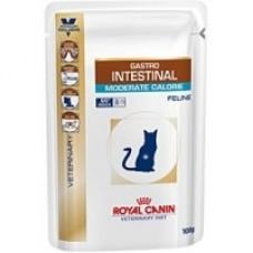 Royal Canin GASTRO INTESTINAL MODERATE CALORIE FELINE Влажный корм для кошек при нарушениях пищеварения, 100гр.