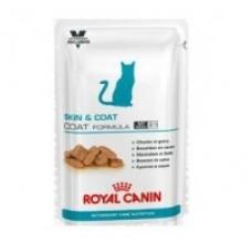 RC Skin & Coat Formula (ВКН Скин энд Коат Коат Формула)   Влажный корм  для кастрированных / стерилизованных котов и кошек с чувствительной кожей, 85г (P37761)