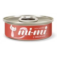 Mi-Mi консервы для кошек с лососем, 80 гр. (24500)