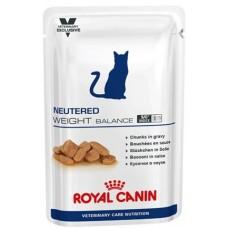 Royal Canin NEUTERED WEIGHT BALANCE Влажный корм для кастрированных/стерилизованных котов и кошек с момента операции до 7 лет, склонных к избыточному весу, 100гр.