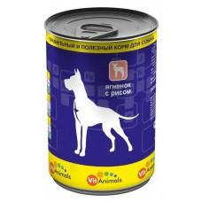 ВитЭнималс консервы для собак Ягненок с рисом