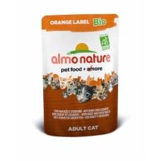 Almo Nature  Оrange label Bio пауч для кошек с Говядиной и Овощами 70гр. (22534)