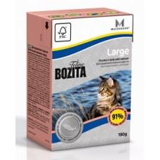 Bozita Bozita Feline Large кусочки в желе  для кошек крупных пород с лососем, 190 гр. (P22800)