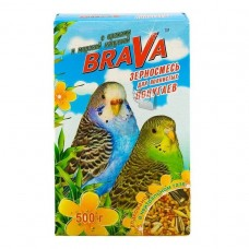 Брава Корм для волнистых попугаев Орех+морская капуста 500гр. (27521)