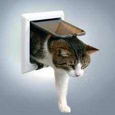 Дверца для кошки (15,8х14,7см), с 4 функциями белая (38641)