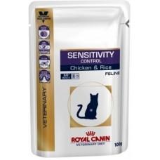 Royal Canin SENSITIVY CONTROL FELINE Влажный корм для кошек при пищевой аллергии / непереносимости, 100гр.