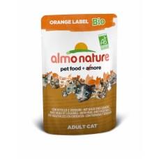 Almo Nature  Orange label Bio пауч для кошек с Телятиной и Овощами 70гр. (22558)