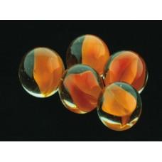 Грунт аквариумный, прозрачный  со вставками оранжевого цвета, 16мм, 200г, стекло (5623002)