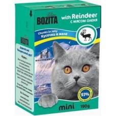 Bozita Feline MINI Reindeer Кусочки в желе для кошек с оленем , 190 гр. (P22223)