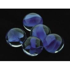 Грунт аквариумный, прозрачный  со вставками синего цвета, 16мм, 200г, стекло (5623001)