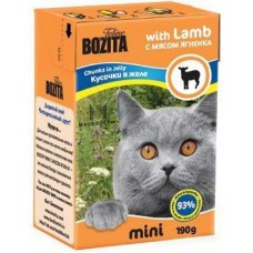 Bozita Feline MINI with Lamb Кусочки в желе с ягненком для кошек, 190 гр. (P22222)
