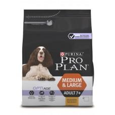 Pro Plan MEDIUM & LARGE ADULT 7+ OPTIAGE для собак старше 7 лет средних и крупных пород с курицей и рисом