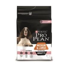 Pro Plan MEDIUM & LARGE ADULT 7+ OPTIAGE для собак старше 7 лет средних и крупных пород с чувствительной кожей с лососем и рисом
