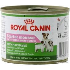 Royal Canin STARTER MOUSSE для щенков до 2 месяцев, беременных и кормящих сук, 195гр (P18636 )