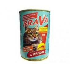 Брава консервы для кошек Мясо 400гр. (17742)