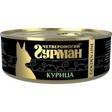 Четвероногий Гурман Голден консервы для кошек курица натуральная в желе, 100гр. (c36587)