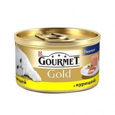Гурмет Голд для кошек паштет с курицей, 85гр. (05259)