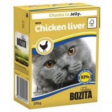 Bozita  Feline Chicken Liver Кусочки в желе с куриной печенью для кошек, 370 гр. (P22718)