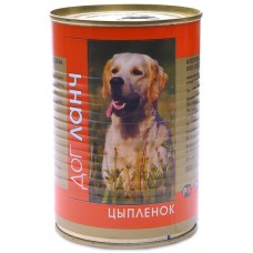 Дог Ланч консервы для собак Цыпленок