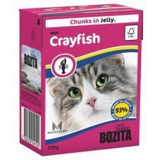 Bozita Feline Crayfish Кусочки в желе с лангустом для кошек, 370 гр. (P22715)
