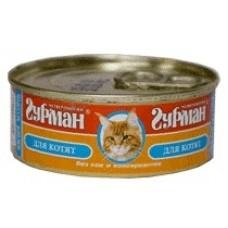 Четвероногий Гурман консервы для котят мясное ассорти с говядиной, 100 гр. (c11916)