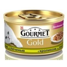 Гурмет Gold Duo кусочки в соусе с кроликом и печенью, 85гр. (05234)