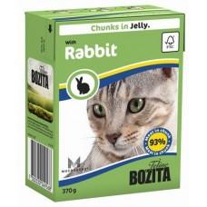 Bozita Feline Rabbit Кусочки в желе с кроликом для кошек, 370 гр. (P22720)