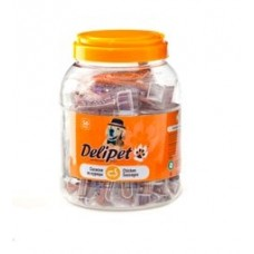DeliPet лакомство для собак сосиска (56 штук в банке)
