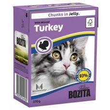 Bozita Feline Turkey Кусочки в желе с индейкой для кошек, 370 гр. (4958)