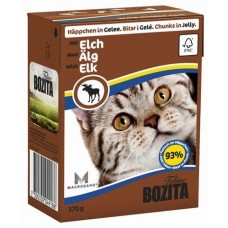 Bozita Feline Elk Кусочки в желе для кошек c лосем, 370 гр. (P22717)