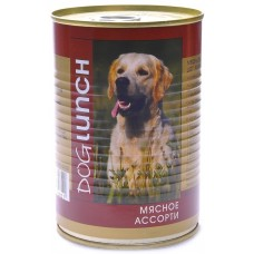 Дог Ланч консервы для собак Мясное ассорти
