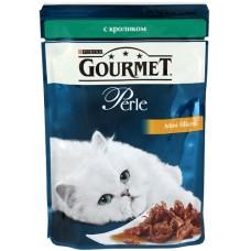 Gourmet  Perl для кошек кусочки кролика в подливке в/у , 85г (05232)